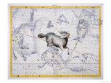 Constellation of Aries  Plate 4 from Atlas Coelestis  by John Flamsteed