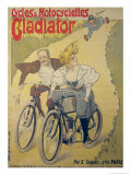 Poster Advertising Gladiator Bicycles and Motorcycles