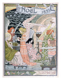 The Angels' Kitchen  Cover for 'L'Illustration'  Christmas 1893 (Colour Litho)