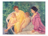 The Swim  or Two Mothers and Their Children on a Boat  1910