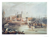 View of the Tower of London  Engraved by Daniel Havell