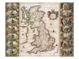 Britain as It Was Devided in the Tyme of the Englishe Saxons  1616
