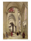 Interior of the Cathedral of St Etienne  Sens  c1874