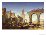 Ruins of the Mosque of the Caliph El Haken  Cairo  c1840