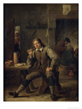 Smoker Leaning on a Table  1643