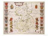 Map of Cambridgeshire  Published Amsterdam c1647-48
