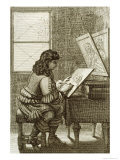 Artist Copying Onto an Engraving Plate  Printed 1737
