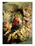 The Virgin and Child Surrounded by the Holy Innocents Or  the Virgin with Angels  1618