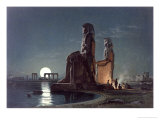 The Colossi of Memnon  Thebes  c1872