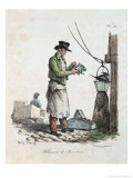 The Lamplighter  Engraved by Francois Seraphin Delpech