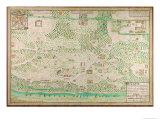 Map of Fort Rosalie Des Natchez  Louisiana