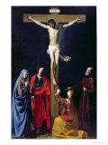 Christ on the Cross with the Virgin  Mary Magdalene  St John and St Francis of Paola