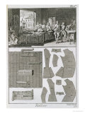 Tailor's Workshop and Patterns  from the 'Encyclopedie Des Sciences et Metiers' by Denis Diderot