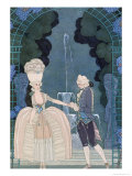 Love under the Fountain  Illustration For Fetes Galantes by Paul Verlaine