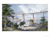 Railway Bridges at Louisville  Kentucky  1872