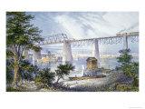 Railway Bridges at Louisville  Kentucky  1872