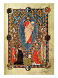 Christ in Majesty with Saints  from the Pontifical of Bishop Pierre de La Jugie  1350