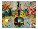 The Garden of Earthly Delights: Allegory of Luxury  Detail of the Central Panel  c1500