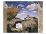 Landscape with a Castle  from the Camera Degli Sposi or Camera Picta  1465-74
