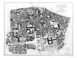 Map of Sainte-Genevieve Area  Paris  1756
