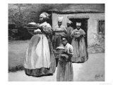 Slaves Carry a Prepared Meal from a Cookhouse to a Plantation Mansion  1886