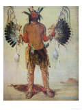 Old Bear Medicine Man of the Mandan Tribe  from a Painting of 1832