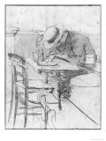 Paul Cesar Helleu at a Table in a Cafe