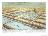 View of Ancient Babylon  Plate 3  Entwurf Einer Historischen Architektur  Engraved Delsenbach