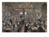 The Student Brasserie of the Thuringer Hof in Leipzig  c1900
