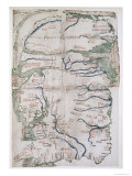 Map of England  Scotland and Wales  Ms Cotton Claudius  Dvi  Fol 12 V  1250