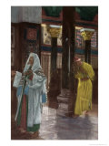 The Pharisee and the Publican Praying in the Temple  La Vie de Notre Seigneur Jesus-Christ  c1896