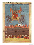The Flying Carpet  from the Poem 'Layla and Majnun' by Nizami
