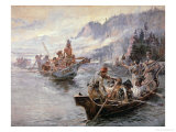 Lewis and Clark on the Lower Columbia River  1905