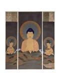 Apparition of the Buddhist Trinity  Buddha Amitabha and His Two Bodhisattvas  Kannon