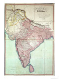 Improved Map of India Published in London 1820