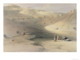 Entrance to the Valley of the Kings  from Egypt and Nubia  Engraved by Louis Haghe