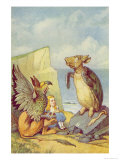 The Mock Turtle and the Gryphon  Illustration from Alice in Wonderland by Lewis Carroll