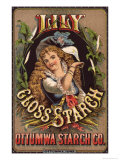 Trade Card Advertising Lily Gloss Starch  Ottuma Starch Co  c1885