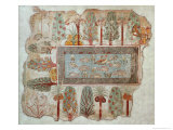 Garden of a Private Estate  Wall Painting  Tomb of Nebamun  Thebes  New Kingdom  c1350 BC