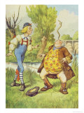 Father William Balancing an Eel on His Nose  Alice in Wonderland by Lewis Carroll