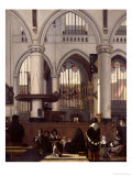 The Interior of Oude Kerk  Amsterdam  c1660