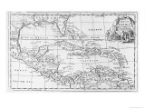 Map of the West Indies  Florida and South America