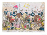 Massacre at St Peter's  or 'Britons Strike Home'!!!  Pub by Thomas Tegg  1819