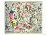 Map of the Southern Hemisphere  from The Celestial Atlas  or the Harmony of the Universe