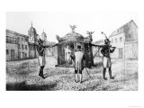 Brazilian Sedan Chair and a Person Begging For the Church  1821