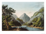View in Oheitepha Bay on the Island of Otaheite  from Captain Cook's Last Voyage  1809