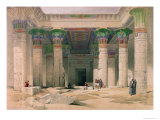 Grand Portico of the Temple of Philae  Nubia  from Egypt and Nubia  Engraved by Louis Haghe