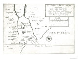 The Rio Ianeiro  from the Travels of Villegagnon and Jean Le Leri in Brazil 1557-1558