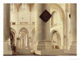 Interior of the Grote Kerk  Amsterdam  c1637