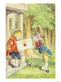 The Fish-Footman Delivering an Invitation to the Duchess  Alice in Wonderland by Lewis Carroll